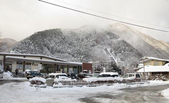 磐梯熱海駅の積雪